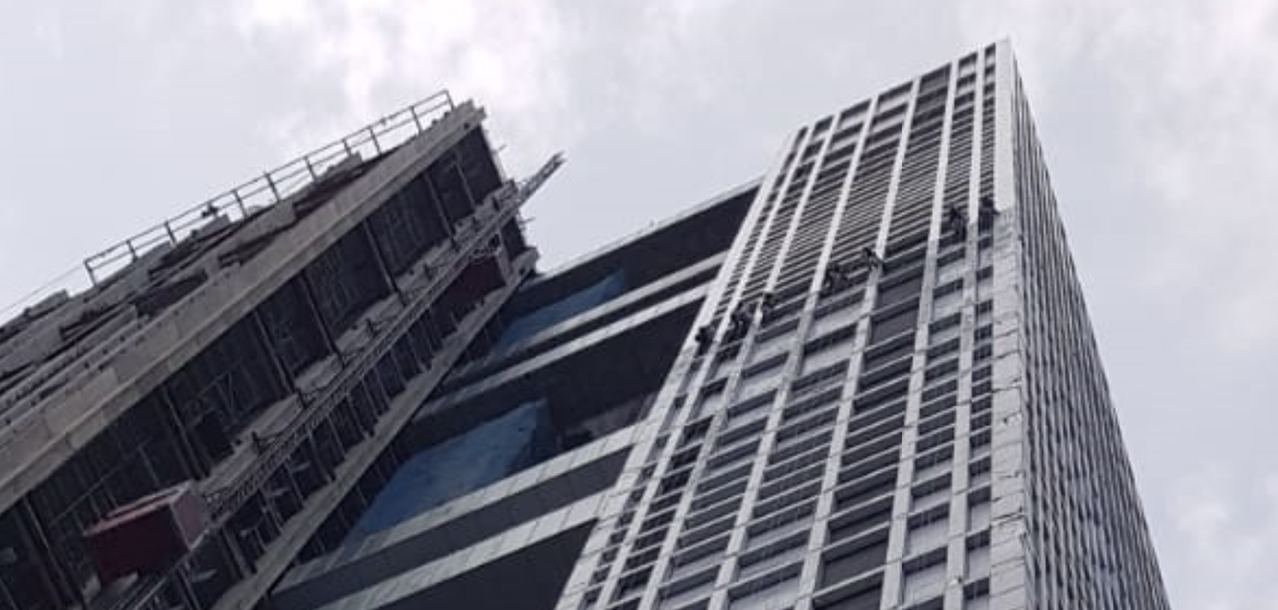 Rope Access Curtain Wall Installation Singapore