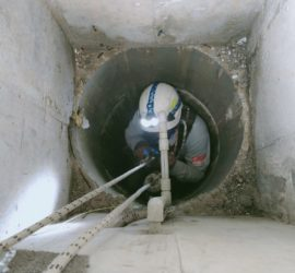 Rope Access Bin Chutes Cleaning & Waterproofing Singapore