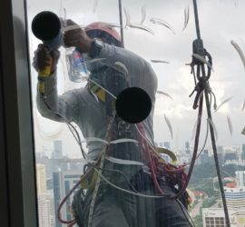 Rope Access External Façade Glass Polishing Singapore