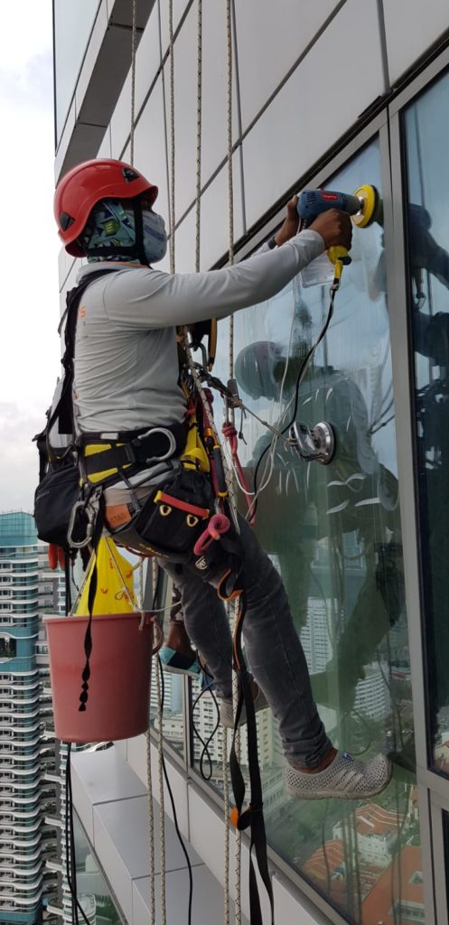Rope Access Glass & Glazing Works Singapore